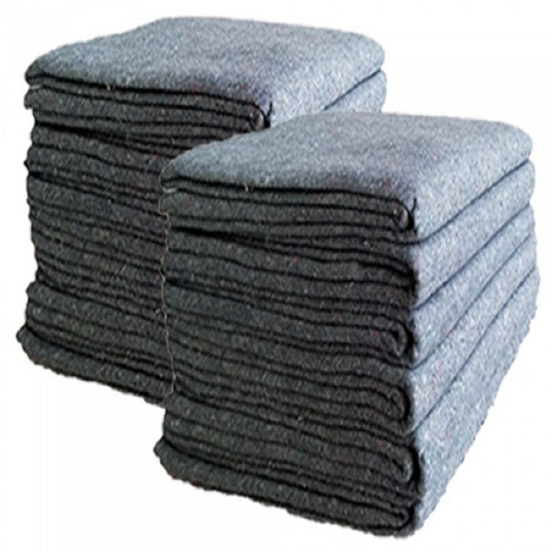 Uboxes Textile Moving Blankets, 54x72in, 24 Pack, 3mm Thick