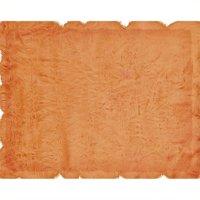 Hawthorne Collection 3' x 5' Faux Sheepskin Area Rug in Orange