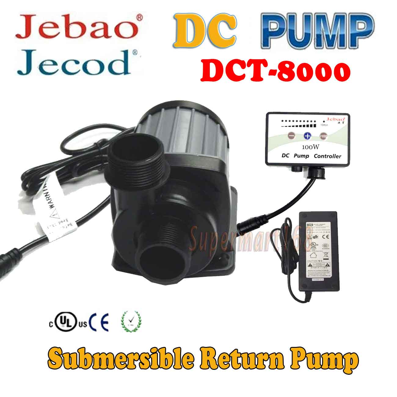 Jebao/Jecod Circulation Pump  DC DCT-8000 for Reef Tank S...