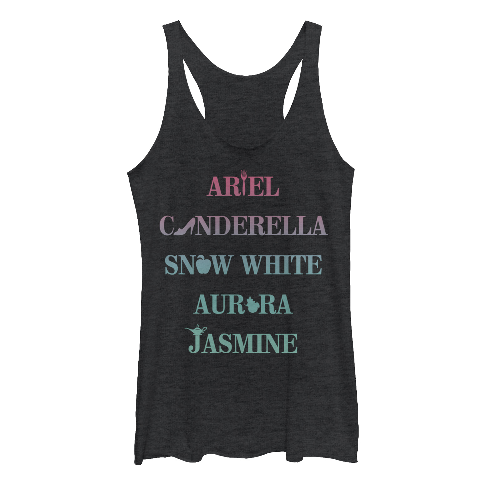Disney Womens Princesses Classic Ariel Tank Top Large Black