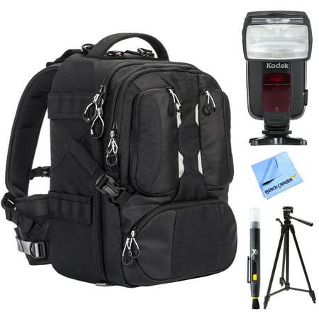 Tamrac ANVIL 17 Photo DSLR Camera and Laptop Backpack - Black (T0220-1919) w/ Flash Bundle Includes, Kodak Flash TTL 18-180 Power Zoom For Nikon, 72