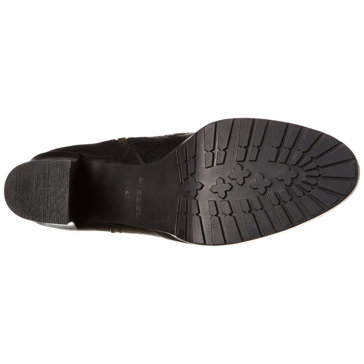 Diesel Women's Bora Black/Black Boot 7.5M