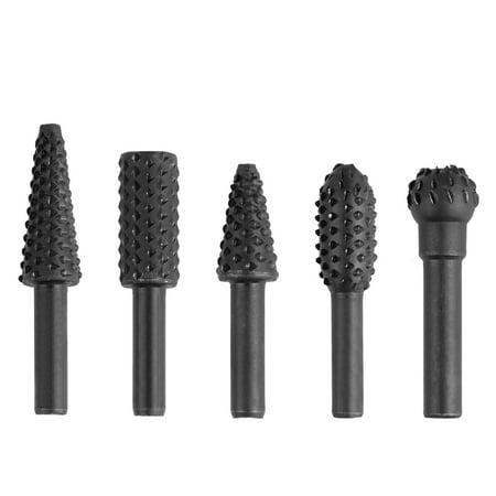 5PCS 1/4'' Drill Bit Set Cutting Tools for Woodworking Knife Wood Carving Tool Basic Wood Carving Set