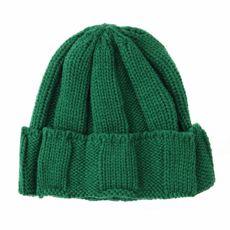 9071b17dab6 WITHMOONS Knitted Ribbed Beanie Hat Basic Plain Solid Watch Cap AC5845  (Green) - Walmart.com