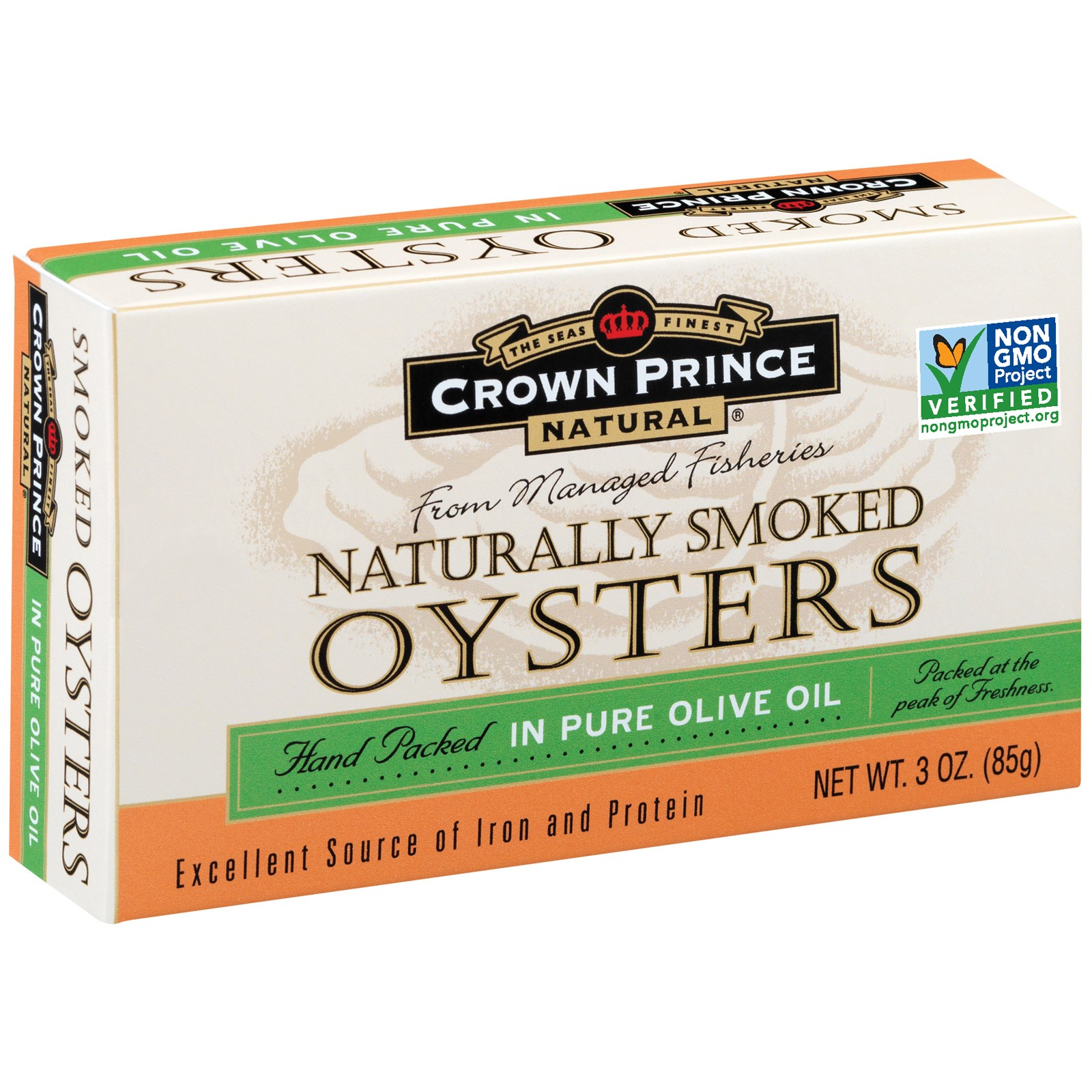 Crown Prince Natural, Naturally Smoked Oysters, In Pure Olive Oil, 3 oz (pack of 1) by