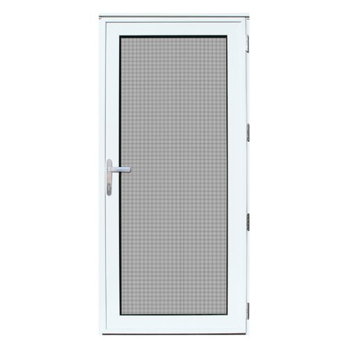 Exceptional Titan Security Recessed Mount Right Hand Outswing Aluminum Meshtec Security Storm  Door, White,