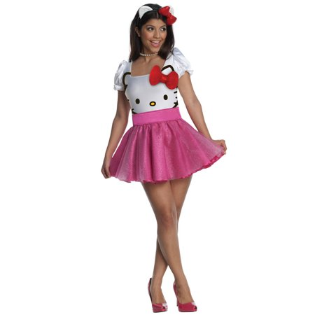 Hello Kitty Tutu Dress Adult Costume - Hello Kitty Adult Halloween Costume