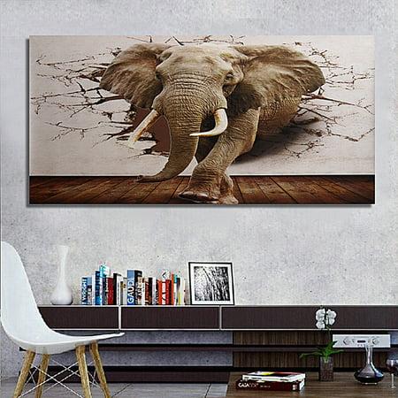 Moden Bedroom 3d Mural Roll Elephant Broken Wall Wallpaper