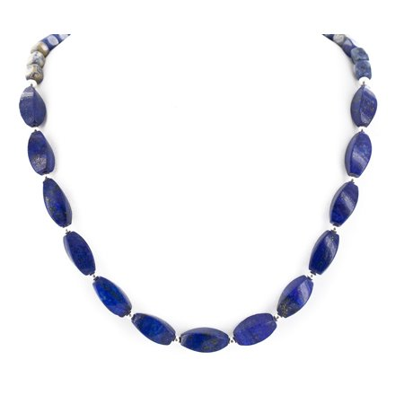 - 270 Retail Tag Authentic Made by Charlene Little Navajo Nickel Natural Lapis Lazuli Native American Necklace