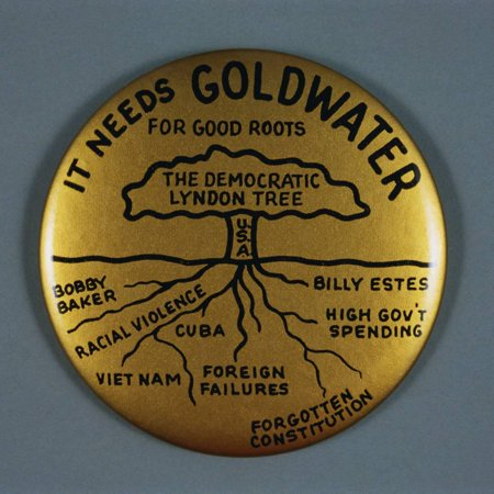 Goldwater Presidential Campaign Button Print Wall Art By David J. Frent