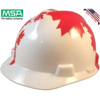 MSA V-Gard Patriotic Hard Hat with American Flag and 2 Eagles w/ One Touch Suspension