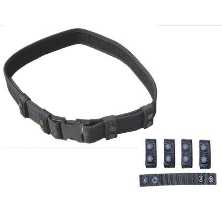 Explorer Tactical Deluxe Black Nylon Tactical Police SWAT EMT Security Adjustable Belt](Police Utility Belt)