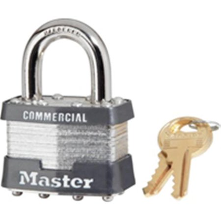 Master Lock 7KA P609 Keyed Padlock, 1-1/8 in W x 1-1/16 in H Body, 9/16 in H Shackle, Steel 1.5 Shackle 3 Body