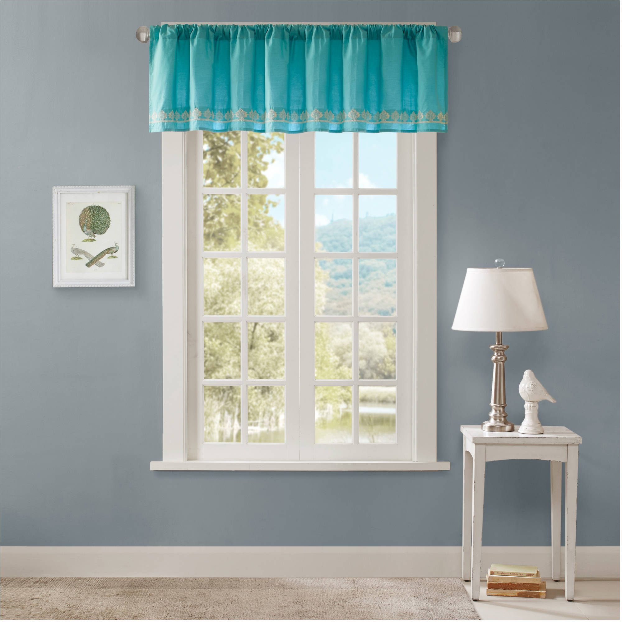 Home Essence Naomi 100 Percent Cotton Embroidered Valance