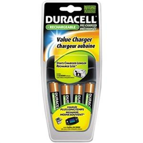 Duracell CEF14NC Duracell Value Charger With 4aa Rechargeables Battery