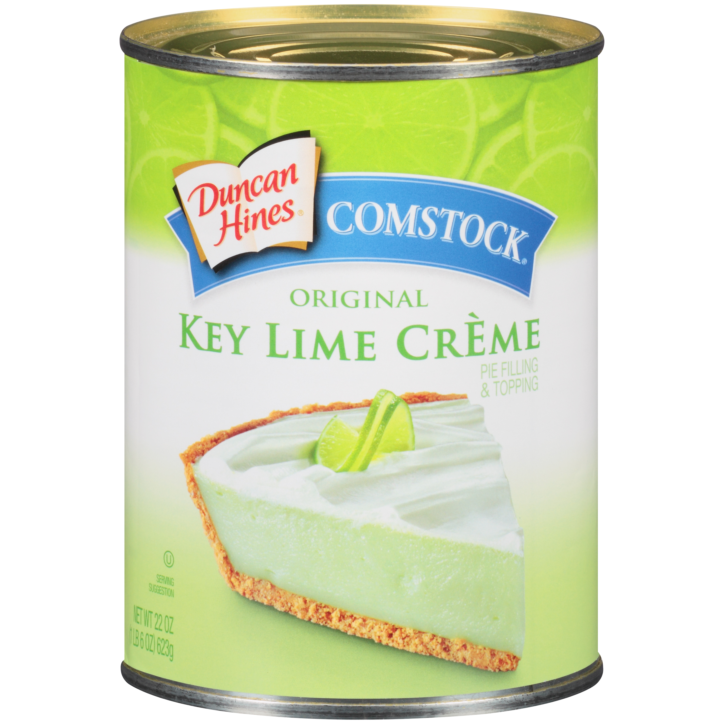 Duncan Hines® Comstock® Original Key Lime Creme Pie Filling & Topping 22 oz. Can