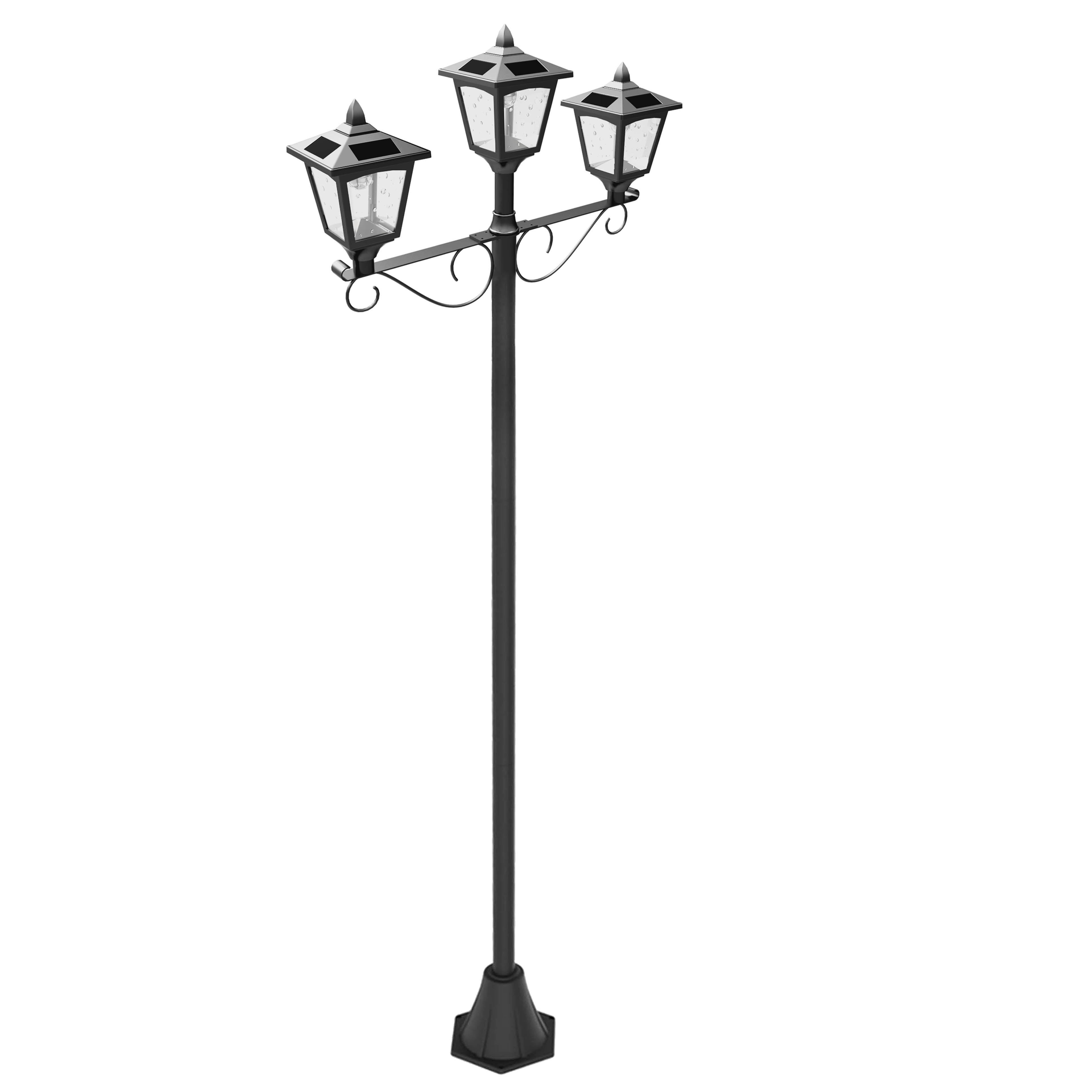 outdoor in night lamp cap solar with light for planter ideas lights post the powered mailbox rock fence globe