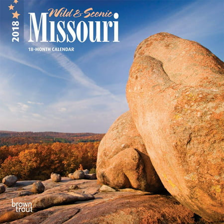 Missouri, Wild & Scenic 2018 7 x 7 Inch Monthly Mini Wall Calendar, USA United States of America Midwest State -