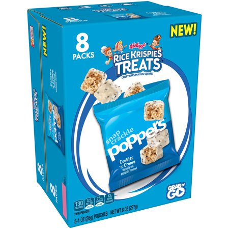 Kellogg's Rice Krispies Treats Poppers Cookies 'N' Creme 8 Oz 8 Ct (Rice Crispy Treats Halloween Decorations)