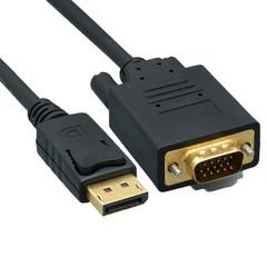 DisplayPort to VGA Video cable, DisplayPort Male to VGA Male, 10 foot