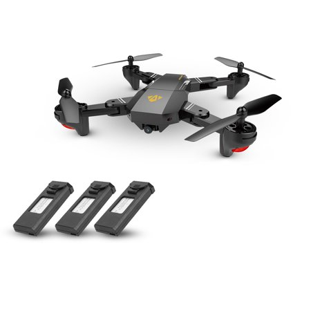 VISUO XS809HW Wifi FPV 2.0MP Foldable Selfie Drone Height Hold RC Quadcopter G-Sensor RTF Extra Two Battery