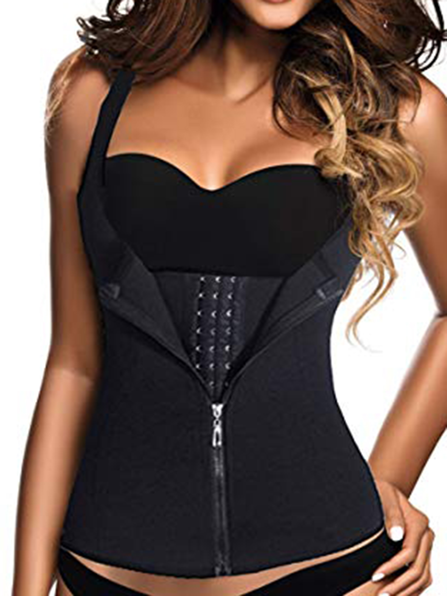 1da68ad7b5d SAYFUT - SAYFUT Women s Waist Trainer Corset Cincher Shaperwear for Weight  Loss Sport Workout Body Shaper Tummy Fat Burner - Walmart.com