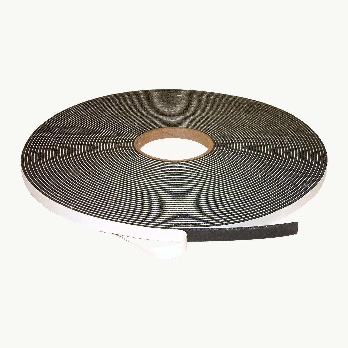JVCC SCF-01 Single Coated PVC Foam Tape: 1/8 in. thick x 1/2 in. x 75 ft. (Black)