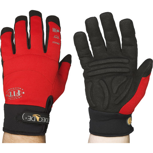 Chase Ergonomics Decade FIT Shock/Impact Gloves, X-Large