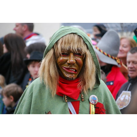 Peel-n-Stick Poster of Germany Mask Carnival Shrovetide Costume Poster 24x16 Adhesive Sticker Poster Print