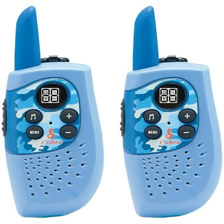 Cobra HE130B 16-Mile 2-Way Radios/Walkie Talkies (Blue/Camo)](Police Walkie Talkie)