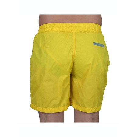 dcc737b36d Men Exercise Running Polyester Casual Breathable Summer Beach Surf Board  Shorts Pants W30 Yellow - image ...