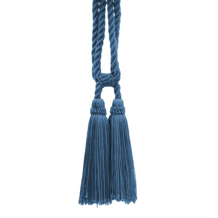 - Beautiful French Blue Curtain & Drapery Double Tassel Tieback|5 1/2
