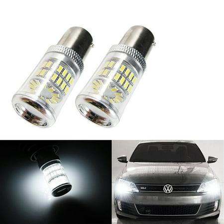 Xotic Tech Xenon White Reflector LED Bulbs 08+ Mitsubishi Lancer Evo Daytime DRL Lights