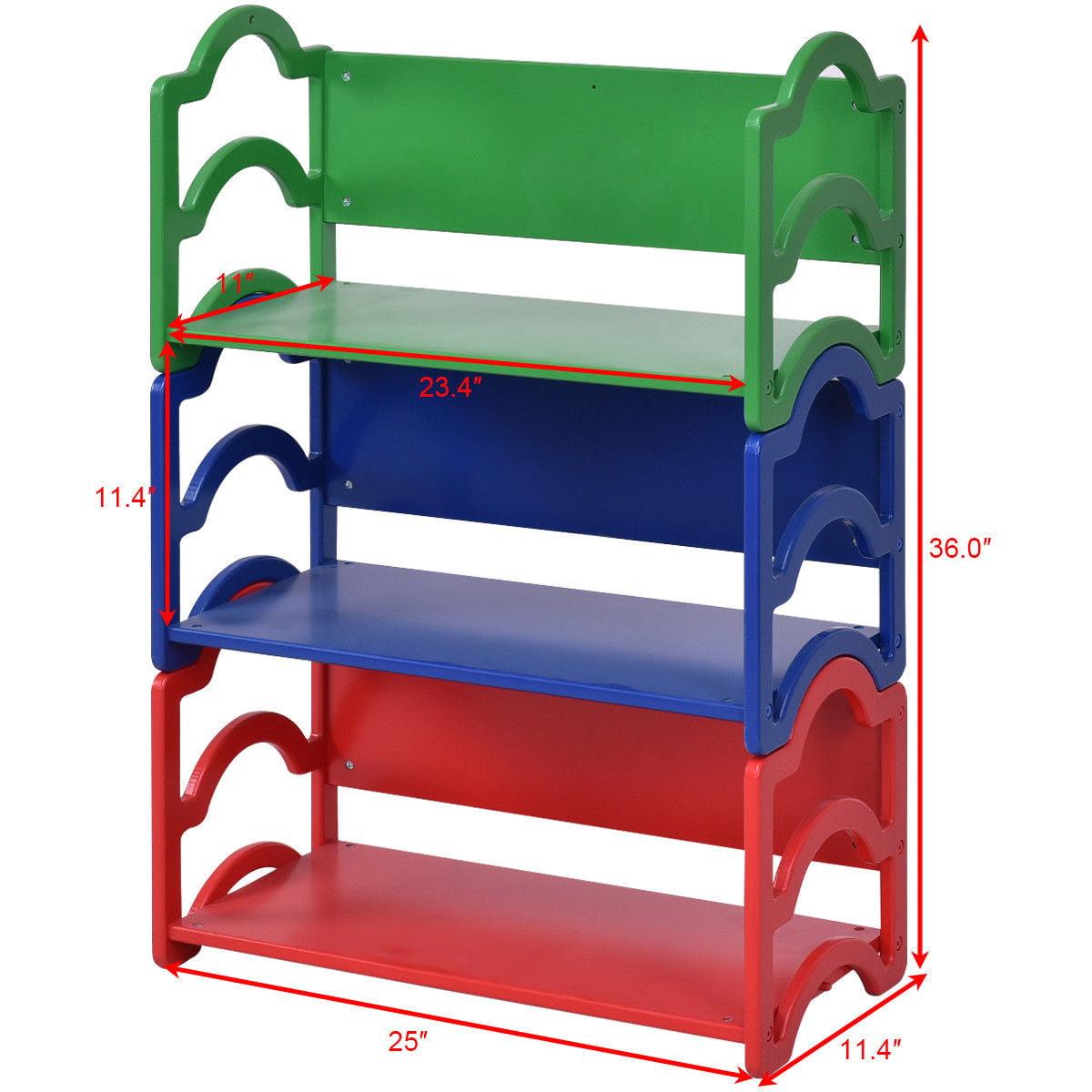 Gymax Kids Book Shelf Storage Rack Organizer Bookcase Display Holder Home Furniture - image 9 of 10