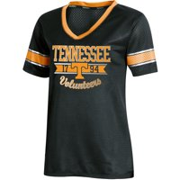 Women's Russell Athletic Black Tennessee Volunteers Fashion Jersey V-Neck T-Shirt