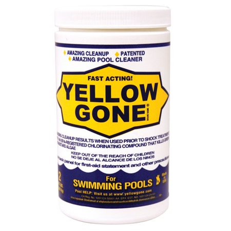 Yellow Gone Fast Acting Pool Cleaner, 2lb