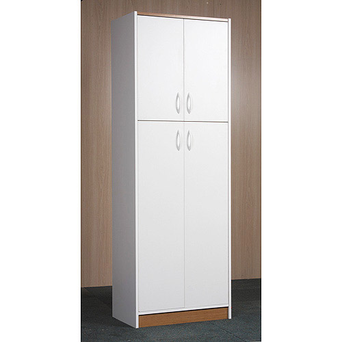 White Kitchen Pantry orion 4-door kitchen pantry, white - walmart