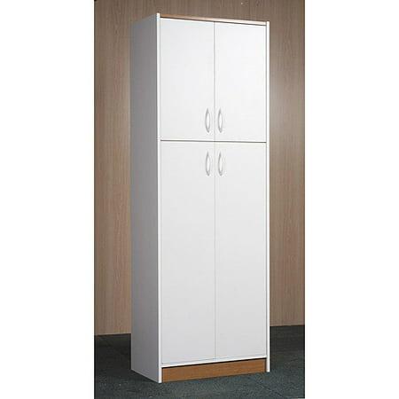 Orion 4 Door Kitchen Pantry White Walmart Com