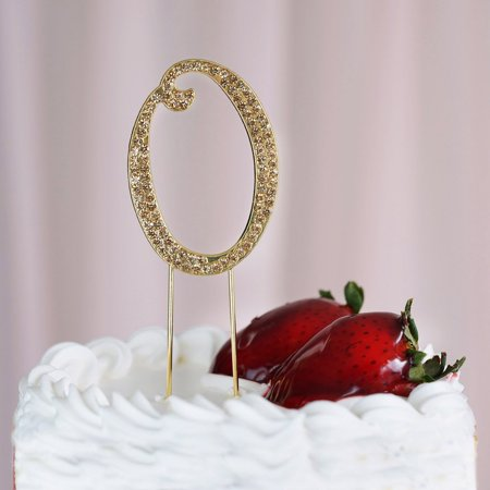 Efavormart 25 Gold Shinny Rhinestone Numbers Cake Toppers For Wedding Birthday Party Special Event Personalized Decorations