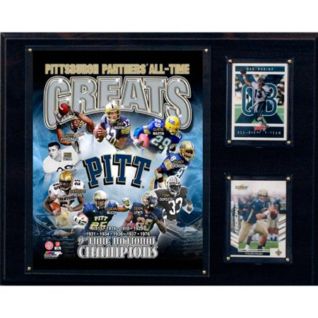 C&I Collectables NCAA 12x15 Pittsburgh Panthers All-Time Greats Photo Plaque
