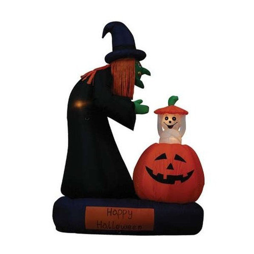 BZB Goods Halloween Inflatable Animated Witch Decoration