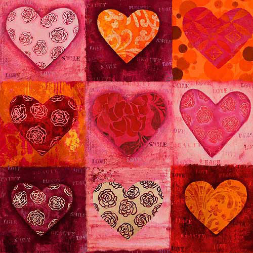 "Springs Creative Sacre Coeur Heart Patch 43"" wide Fabric by the Yard"