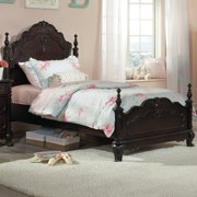 Homelegance Cinderella Kids' Poster Bed in White - (Queen)