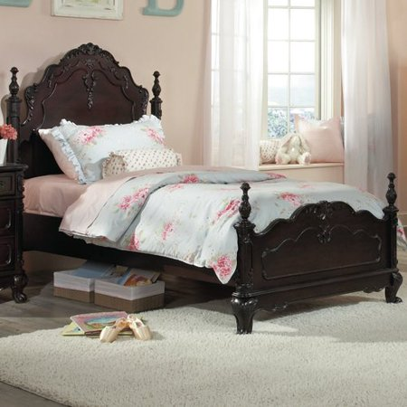 . Homelegance Cinderella Kids  Poster Bed in White    Queen