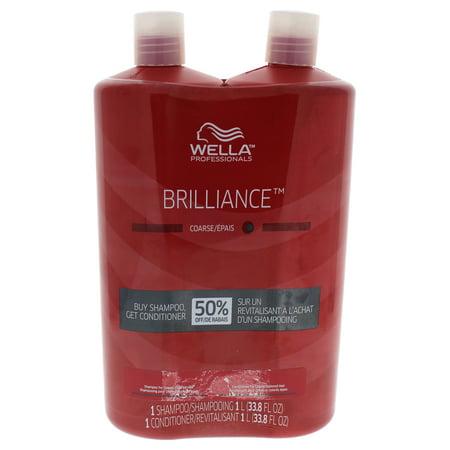 Wella Brilliance Shampoo & Conditioner For Coarse Colored Hair Duo - 33.8 oz Shampoo &