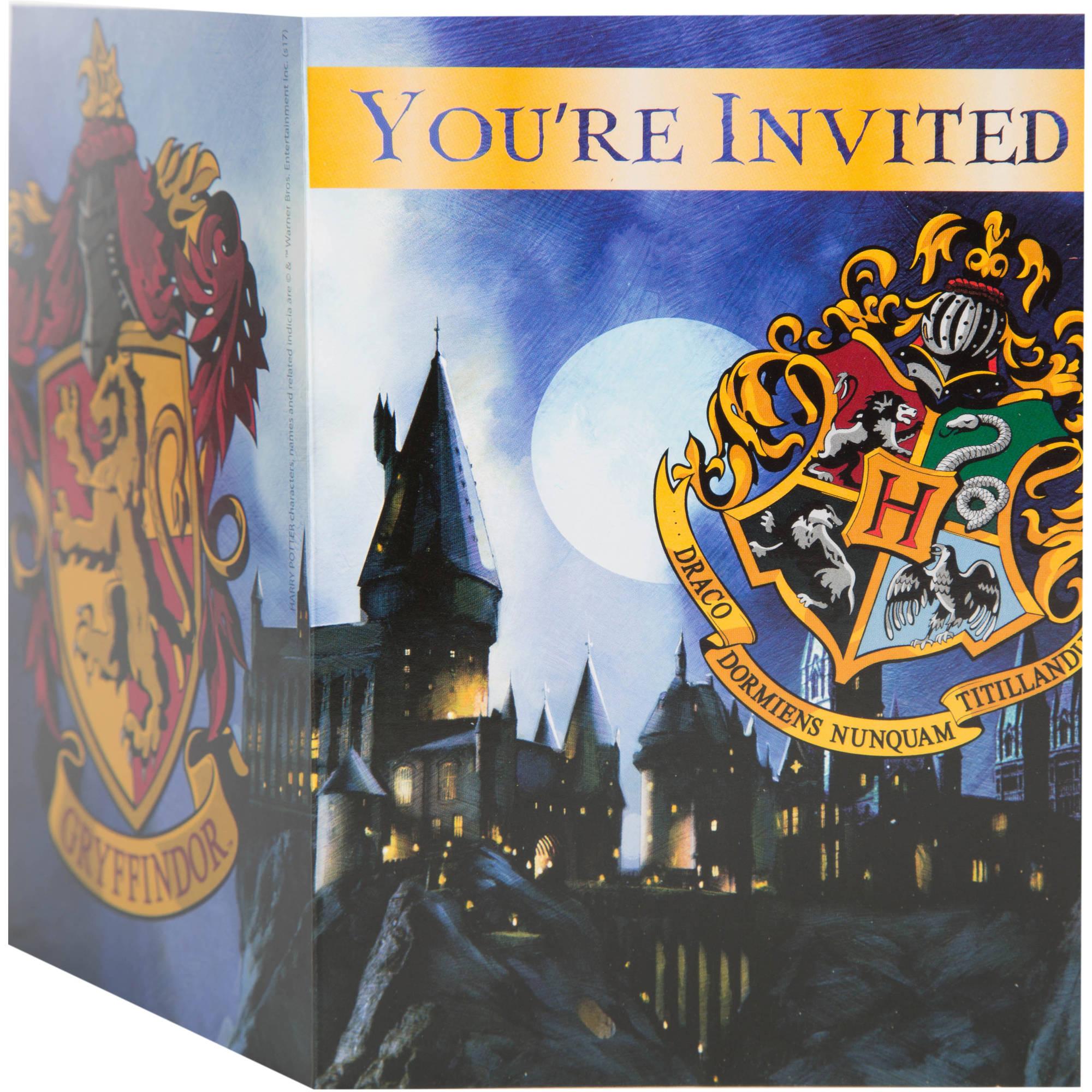 Harry Potter Hogwarts Invitations, 8ct