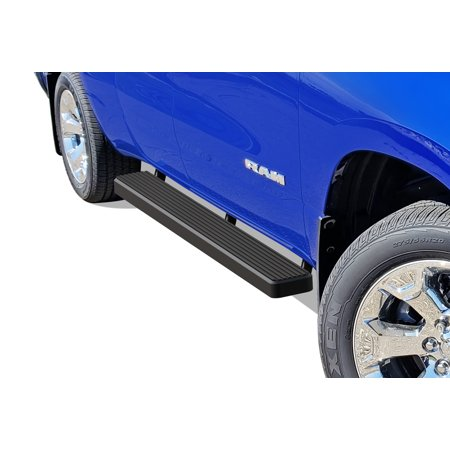 2019-2020 Dodge RAM 1500 Quad Cab Black Finish 6 Inch Door to Door Side Bar Side Step Running Board