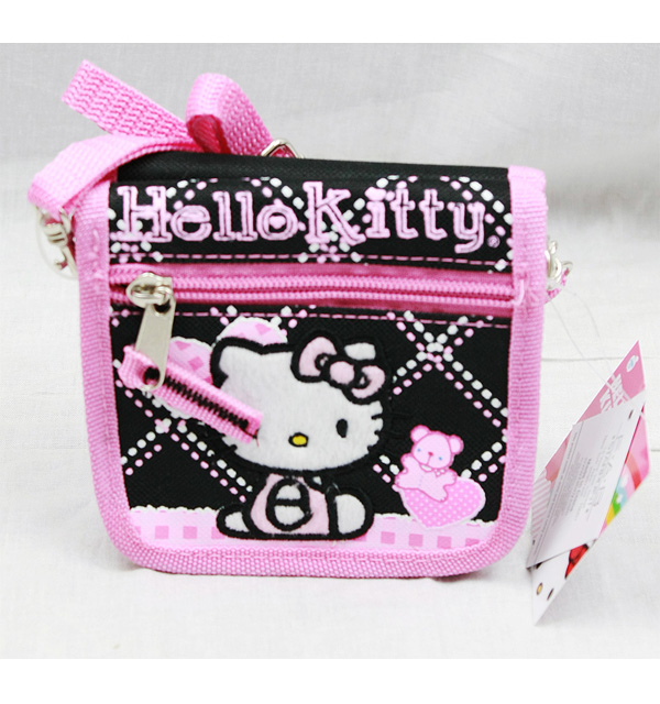 String Wallet Hello Kitty Black Hearts Bear New Gift Toys Licensed 81586 by FAB Starpoint