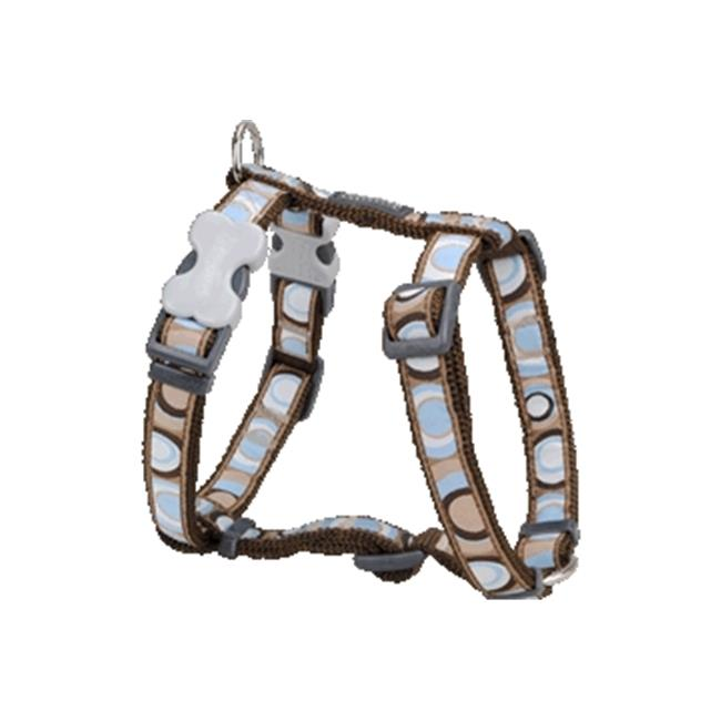 Red Dingo DH-CI-BR-LG Dog Harness Design Circadelic Brown, Large