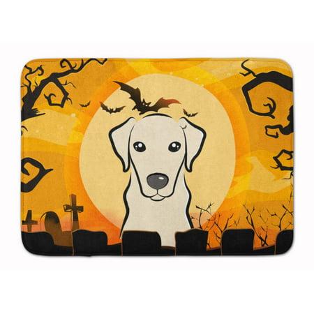Halloween Yellow Labrador Machine Washable Memory Foam Mat - Labrador Halloween Pics